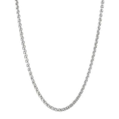 "Mens Stainless Steel 24"" 3mm Wheat Chain"