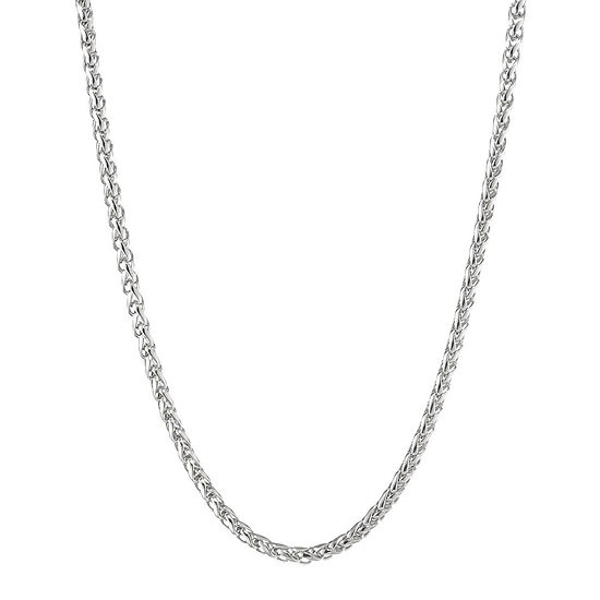 """Mens Stainless Steel 24"""" 3mm Wheat Chain"""