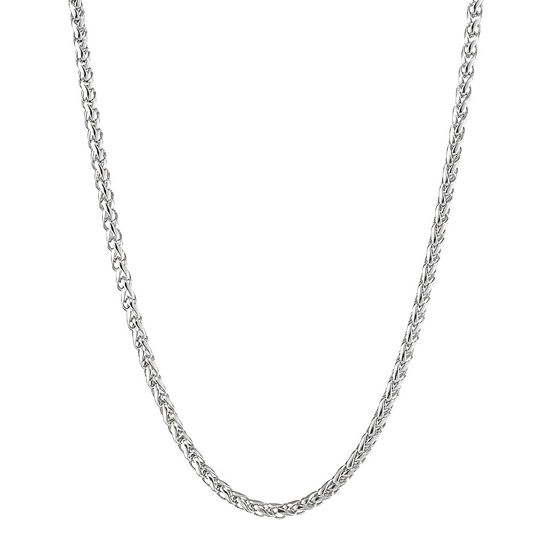 "Mens Stainless Steel 30"" 3mm Wheat Chain"