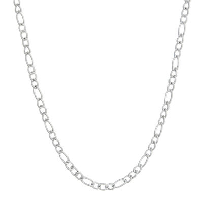 "Mens Stainless Steel 18"" 3mm Figaro Chain"