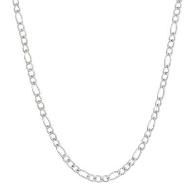 "Mens Stainless Steel 24"" 3mm Figaro Chain"