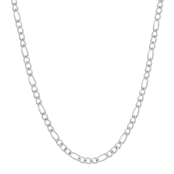 "Mens Stainless Steel 30"" 3mm Figaro Chain"