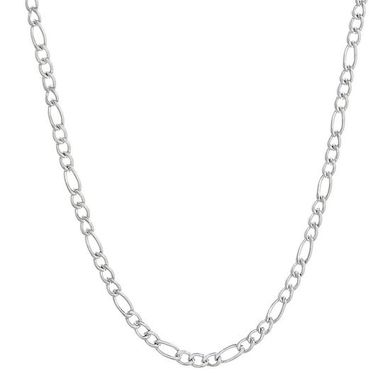 Mens Stainless Steel 30 3mm Figaro Chain