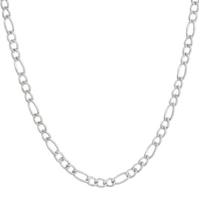 "Mens Stainless Steel 18"" 4mm Figaro Chain"