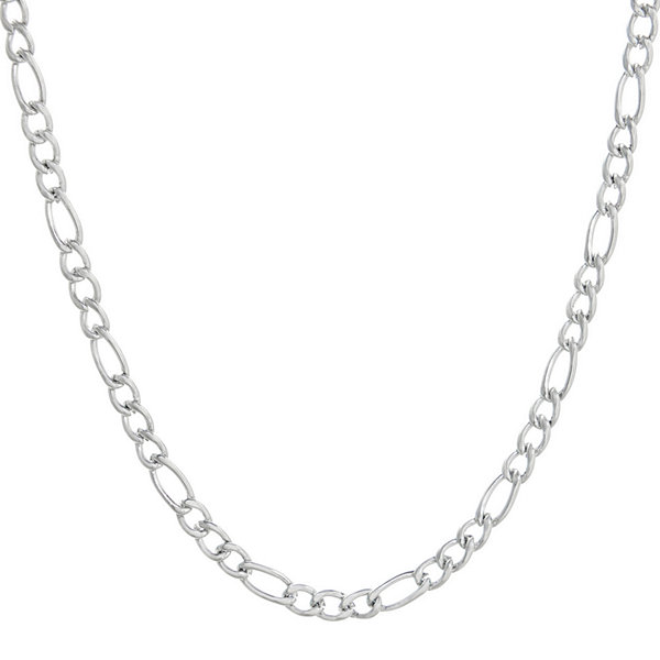 "Mens Stainless Steel 24"" 4mm Figaro Chain"
