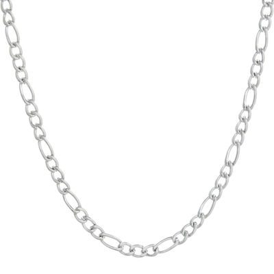 "Mens Stainless Steel 30"" 4mm Figaro Chain"