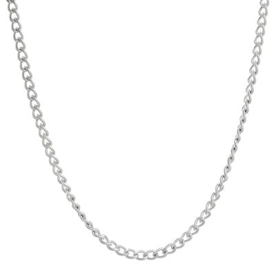 "Mens Stainless Steel 24"" 2mm Curb Chain"