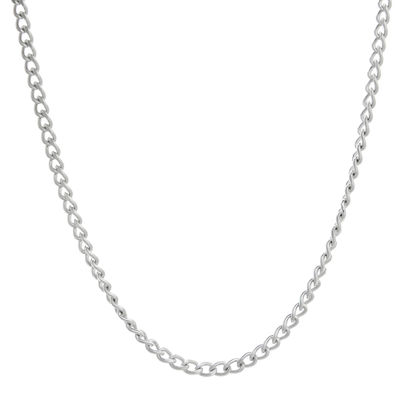 "Mens Stainless Steel 18"" 2mm Curb Chain"