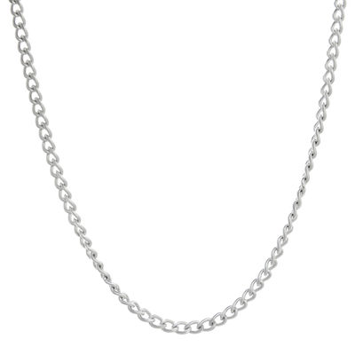 "Mens Stainless Steel 30"" 3mm Curb Chain"