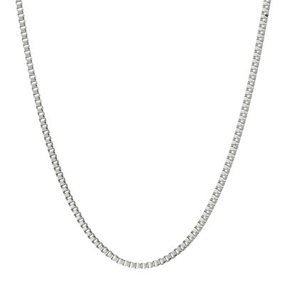 "Mens Stainless Steel 18"" 2mm Box Chain"