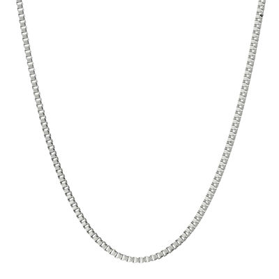 "Mens Stainless Steel 24"" 2mm Box Chain"
