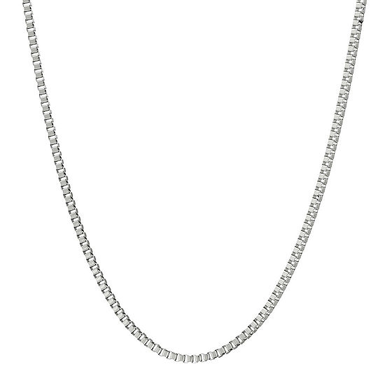"""Mens Stainless Steel 24"""" 2mm Box Chain"""