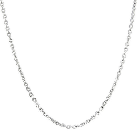 "Mens Stainless Steel 18"" 2.5mm Cable Chain"
