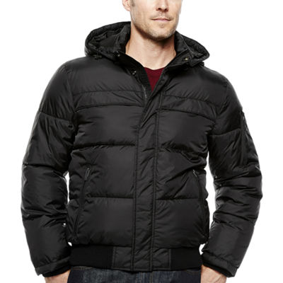 Claiborne® Quilted Rib-Knit Bomber Jacket