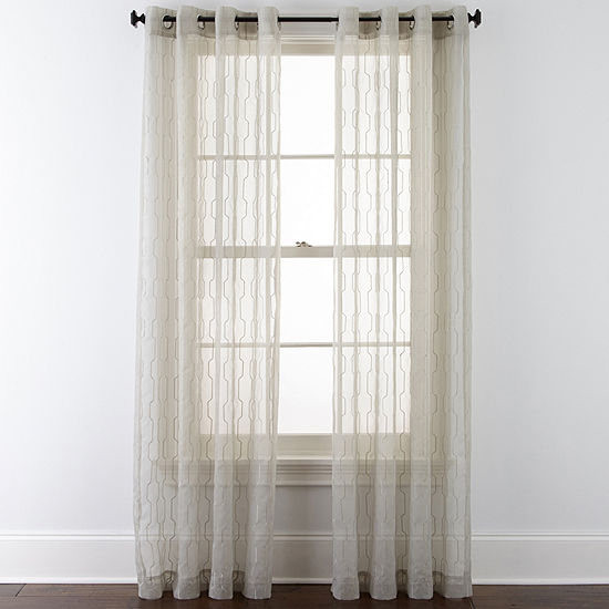 Studio Sheer Grommet-Top Single Curtain Panel