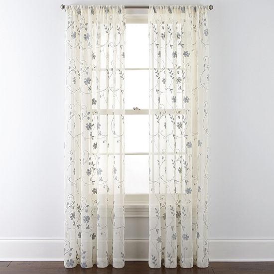 JCPenney Home™ Malta Rod-Pocket Curtain Panel