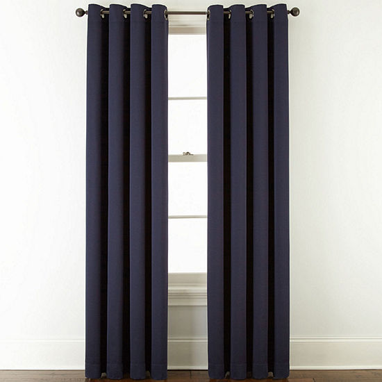 JCPenney Home Mckenna Light-Filtering Grommet-Top Single Curtain Panel