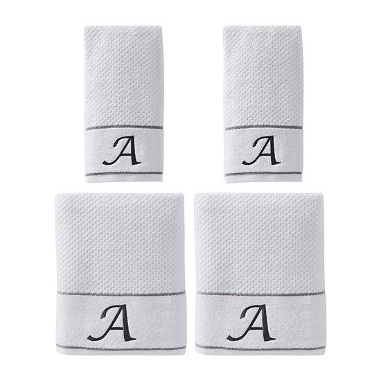 Saturday Knight Monogram 4-pc. Solid Bath Towel Set