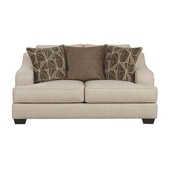 Signature Design by Ashley Marciana Curved Slope-Arm Loveseat