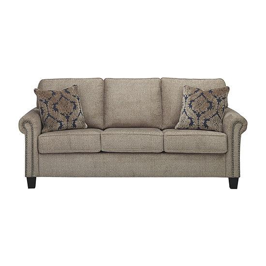Prime Signature Design By Ashley Basiley Roll Arm Sofa Inzonedesignstudio Interior Chair Design Inzonedesignstudiocom