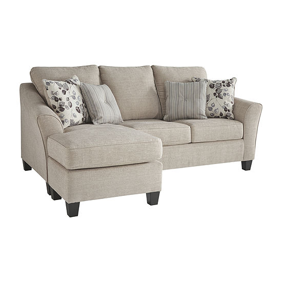 Signature Design by Ashley Abney Curved Slope-Arm Sofa