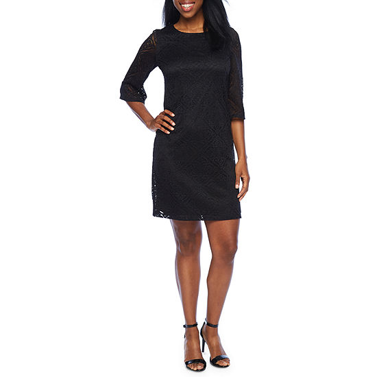 Ronni Nicole 3/4 Sleeve Diamond Sheath Dress