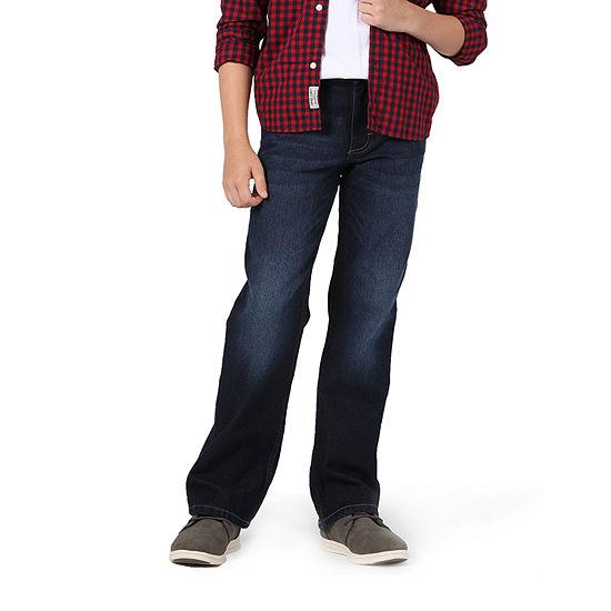 Wrangler Big Kid Boys Husky Regular Fit Stretch Bootcut Jean
