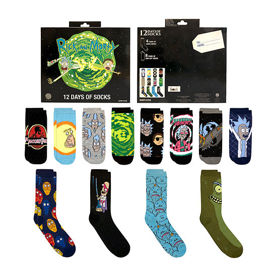12 Days of Socks Rick and Morty - Men's