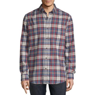 St. John's Bay Super Soft Mens Long Sleeve Flannel Shirt