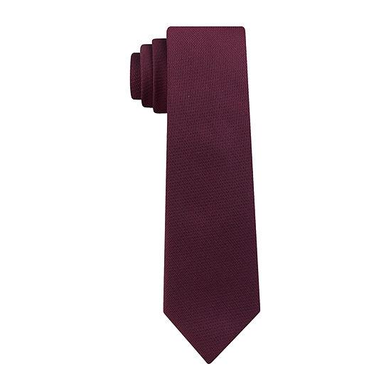 JF J.Ferrar Solid Tie With Tie Bar Tie