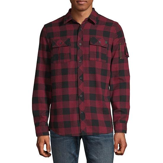 i jeans by Buffalo Mens Long Sleeve Flannel Shirt