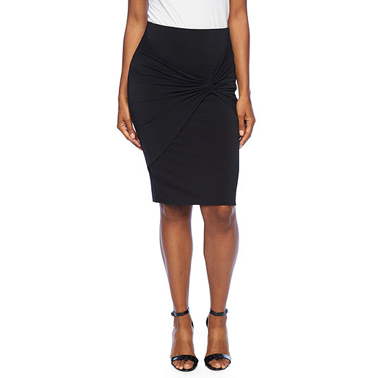 Bold Elements Womens Mid Rise Wrap Skirt