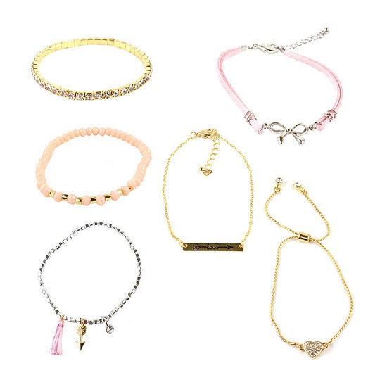 Decree Womens 6-pc. Gold Over Silver Bracelet Set