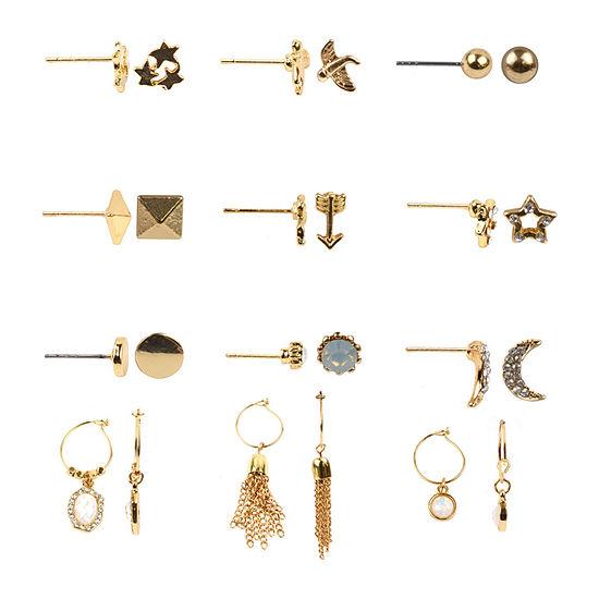 Decree 12 Pair Earring Set