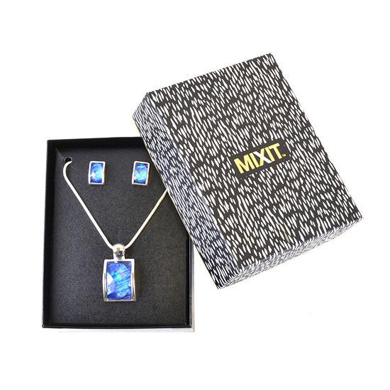 Mixit 2-pc. Blue Square Jewelry Set