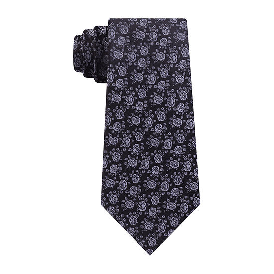 Shaquille O'Neal Xlong Floral Tie