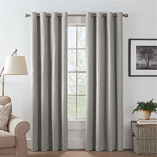 Eclipse Basel Dot Energy Saving Blackout Grommet-Top Single Curtain Panel