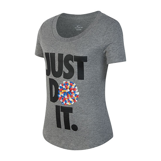 Nike Girls Scoop Neck Short Sleeve Graphic T-Shirt - Big Kid