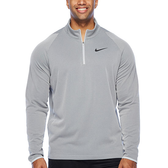 Nike Big and Tall Mens Mock Neck Long Sleeve Quarter-Zip Pullover