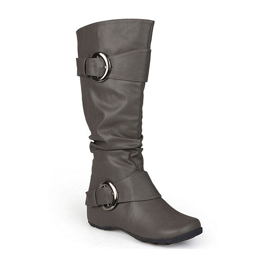 Journee Collection Womens Paris Wide Calf Slouch Riding Boots