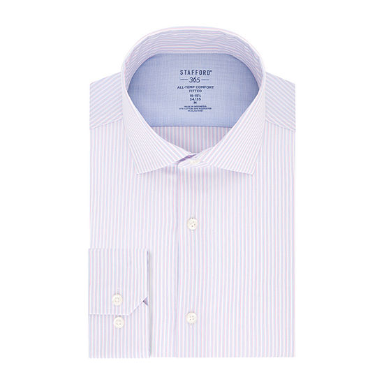 Stafford Mens Wrinkle Free 365 All-Temp Flex Collar Dress Shirt