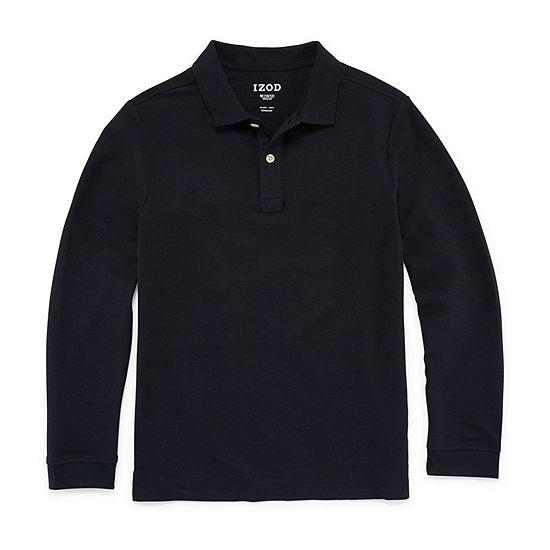 IZOD Pique Little & Big Boys Long Sleeve Stretch Polo Shirt