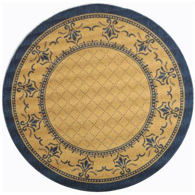 Safavieh Courtyard Collection Alden Oriental Indoor/Outdoor Round Area Rug