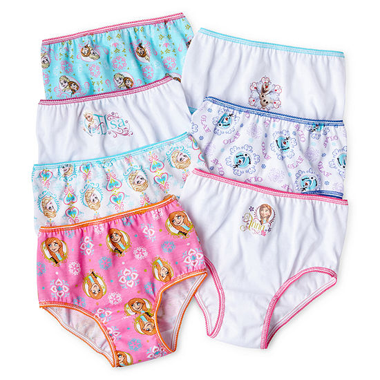 Girls 7 Pair Frozen Brief Panty Toddler