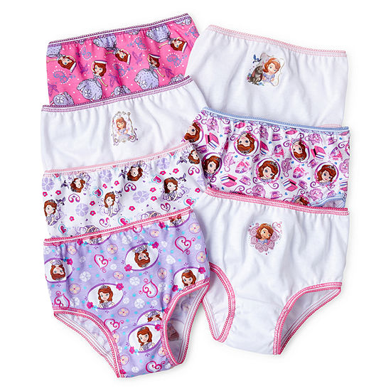 Disney Girls 7 Pair Brief Panty