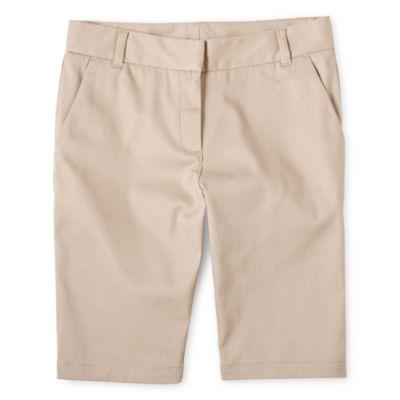 IZOD® Twill Bermuda Shorts - Girls 4-16, Slim and Plus