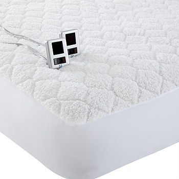 Biddeford™ Sherpa Heated Mattress Pad, Color: White