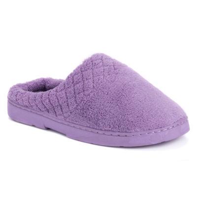 Muk Luks Womens Micro Chenille Clog Slippers
