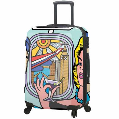 Mia Toro Italy Jozza Airplane 24 Inch Hardside Luggage