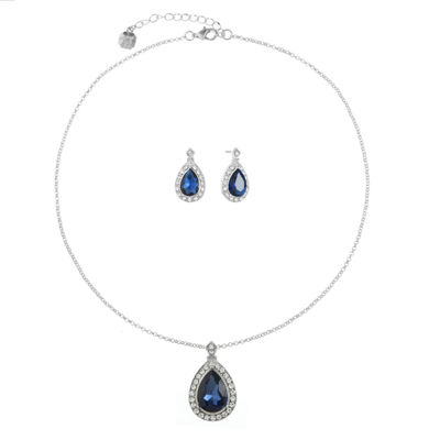 Monet Jewelry Blue Silver Tone 2-pc. Jewelry Set